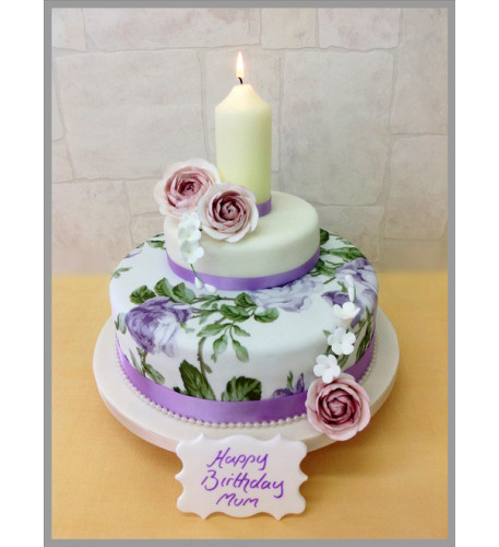 Candle Lit Garden Luxury Cake